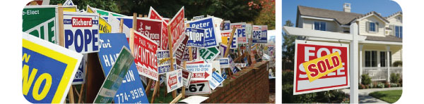 political lawn signs CT